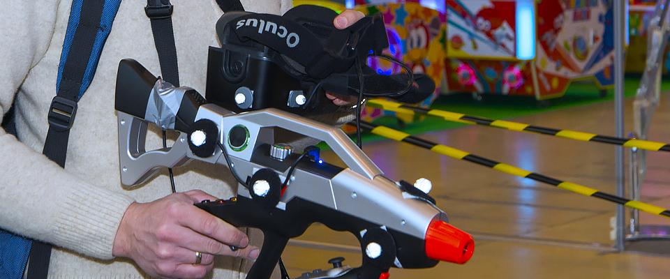 виртуальная реальность очки пистолет